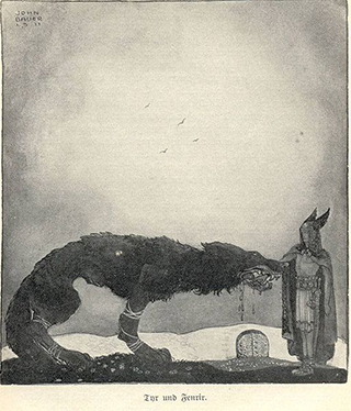 http://commons.wikimedia.org/wiki/File:John_Bauer-Tyr_and_Fenrir.jpg